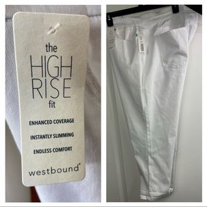 Westbound skinny crop Hi-Rise fit white jeans